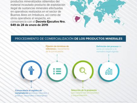 ENAMI expide reglamento para comercializar minerales recuperados de explotación ilícita en el país