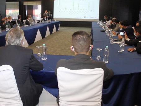 Ministro de Energía, Juan Carlos Bermeo Calderón, mantuvo reunión con empresas petroleras