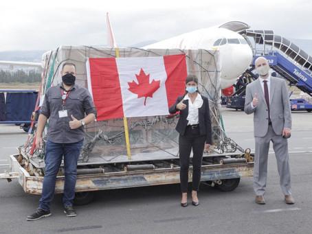 394.950 mil nuevas dosis de AstraZeneca donadas por Canadá irán a zonas de frontera