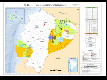 MAPA DE BLOQUES PETROLEROS DEL ECUADOR