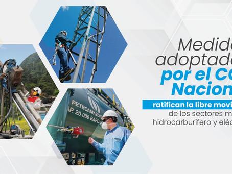 COE Nacional ratifica la libre movilidad de los sectores minero, hidrocarburífero y eléctrico