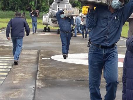 Petroecuador y representantes de la Comuna El Edén mantienen diálogos para levantar el bloqueo