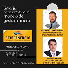ENT SOLARIS JORGE FIERRO, FEDER VELÁSQUE
