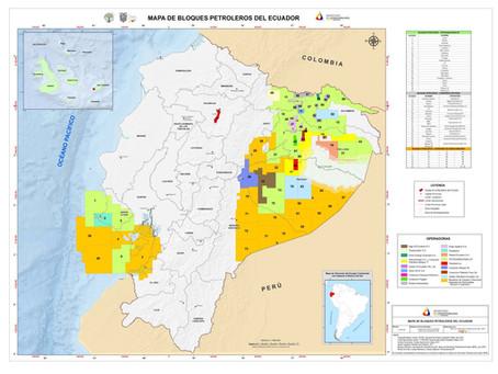 Mapa de bloques petroleros de Ecuador