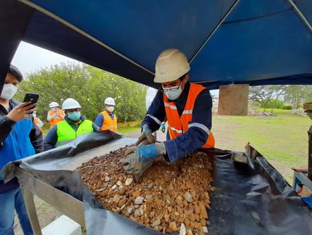ENAMI EP supervisó el muestreo de 1202 toneladas de material mineralizado incautado en Buenos Aires