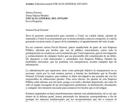 Petroecuador ofrece su apoyo logístico y documental para que la Fiscalía investigue denuncias