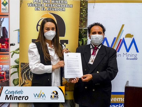 AIME y Woman In Mining Ecuador firman convenio por la equidad de género en la industria minera