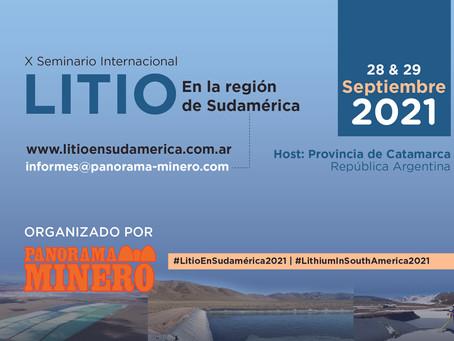 El simposio líder de la industria del litio celebrará sus diez ediciones el 28 y 29 de septiembre