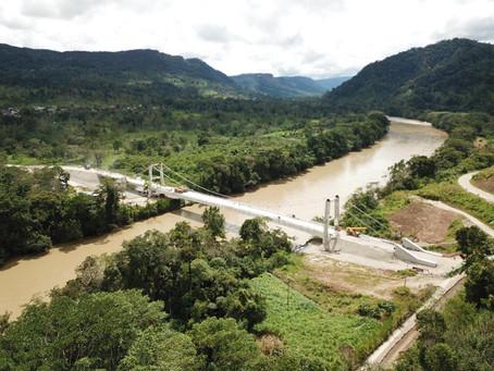 Lundin Gold inauguró puente sobre el río Zamora en la parroquia Los Encuentros
