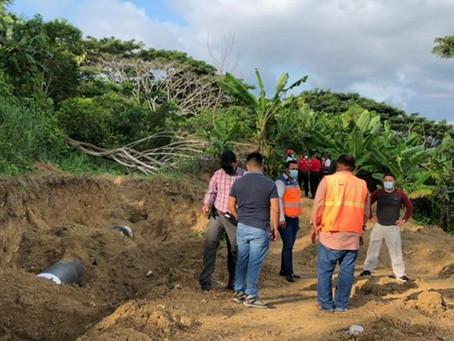 Técnicos del IIGE realizan estudios en zonas de hundimiento en cantón Esmeraldas
