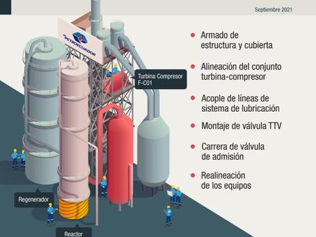 Finalizaron los trabajos de reparación de la Unidad FCC de Refinería Esmeraldas