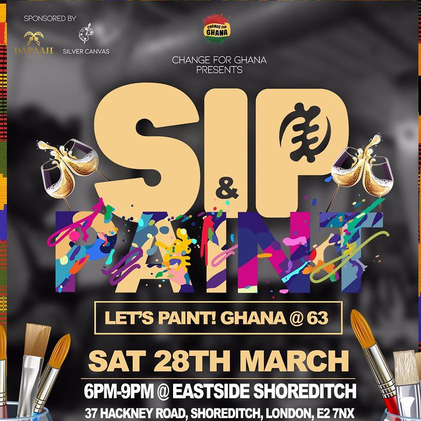 C4G Presents Sip & Paint - Let's Paint Ghana @ 63