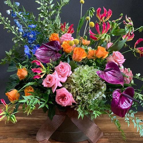 Arranjo Orgânico com Mix de Flores