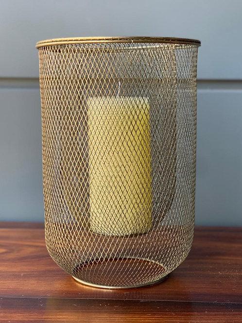 Lanterna Aramada Dourada P