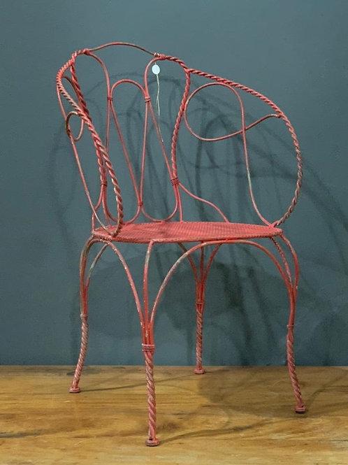Cadeira de ferro Vermelha