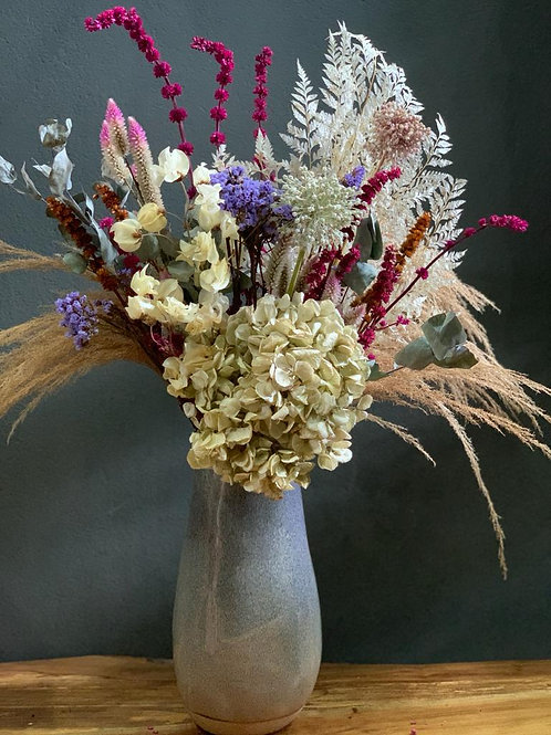 Arranjo Dry em Vaso de Cerâmica
