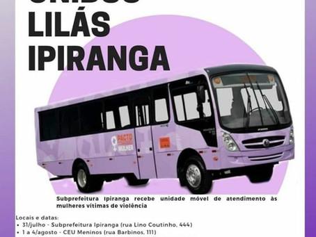 Ônibus Lilás - Atendimento a mulher vítima de violência