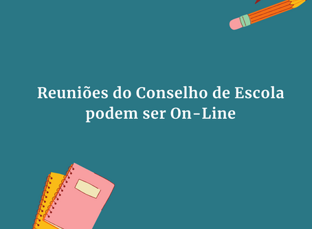 Reunião da escola On-line