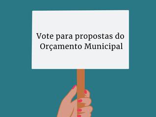 Vote para propostas do Orçamento Municipal