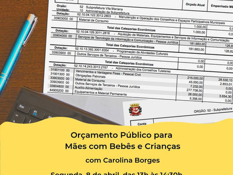 Orçamento Público para Mães com Bebês e Crianças