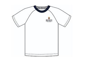 Camiseta Branca do uniforme escolar