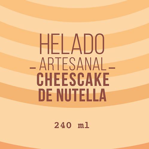 HELADO DE CHEESCAKE DE NUTELLA-240gr-