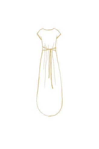 Simple light long nature design goddess dress