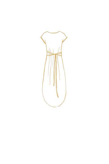 Simple light nature design goddess dress