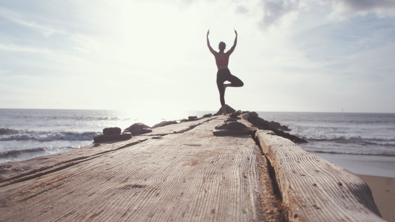 Meditação praia