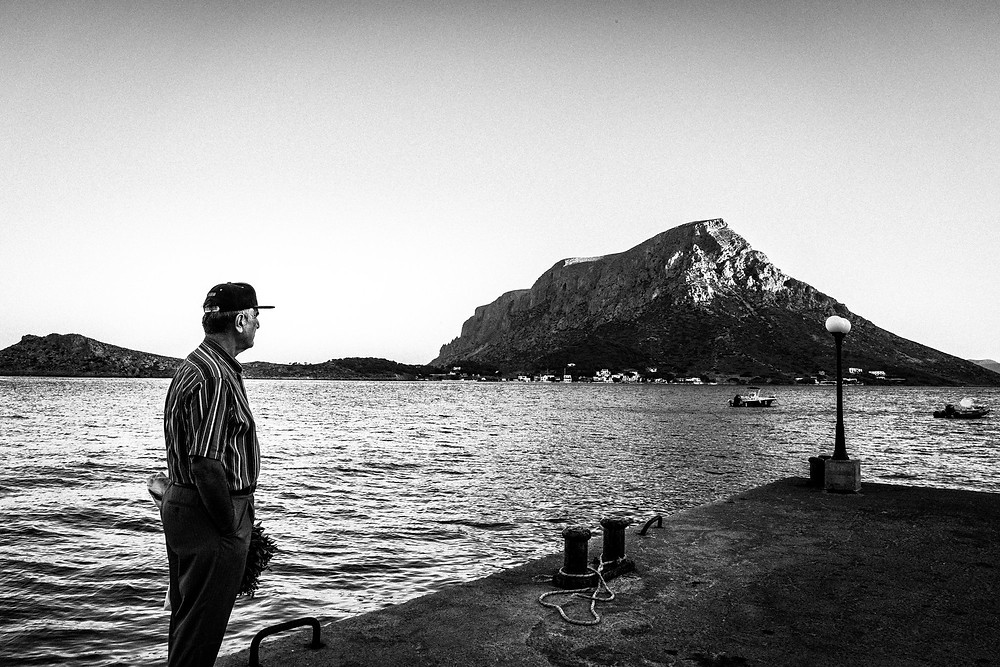 Waiting for the ferry to Tenendos island Greece. South Aegean. Kalymnos. © George Tatakis