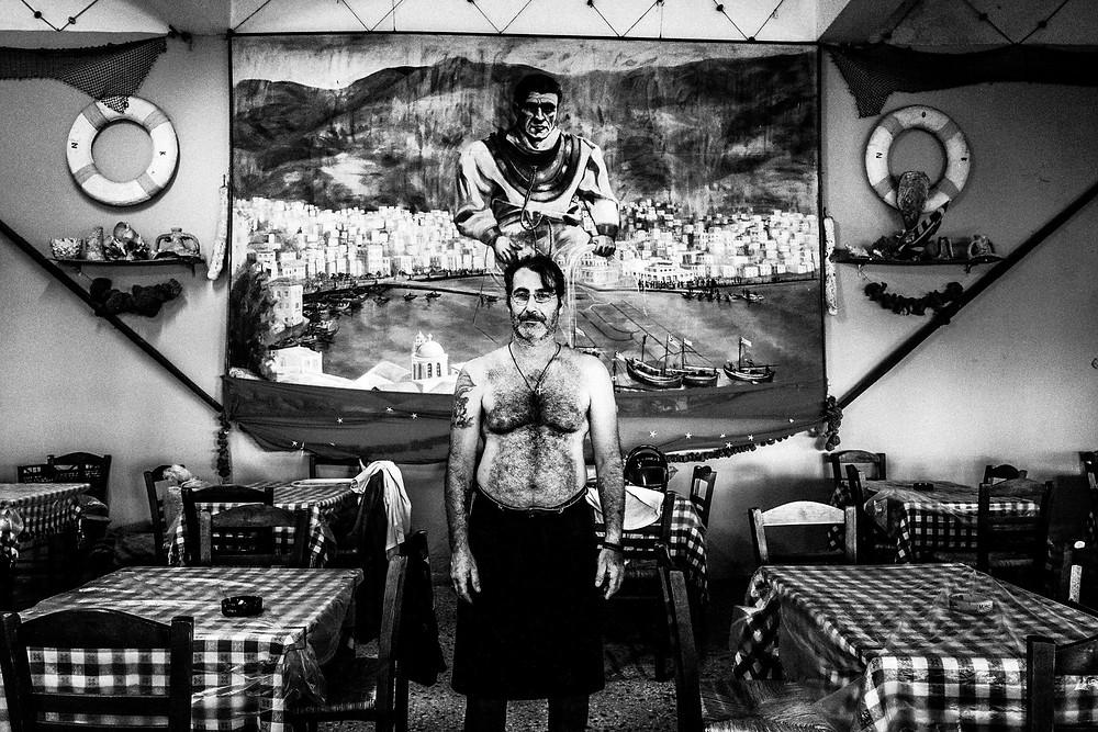 Nikitas at his place Greece. South Aegean. Kalymnos. © George Tatakis