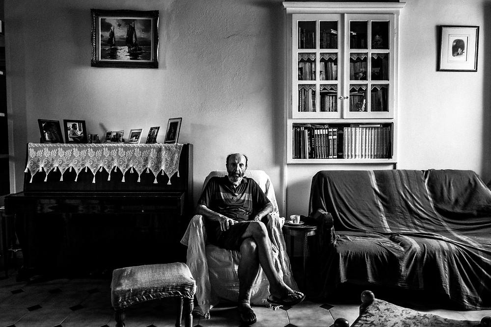 Dimitrios Kouremenos at his place Greece. South Aegean. Kalymnos. © George Tatakis