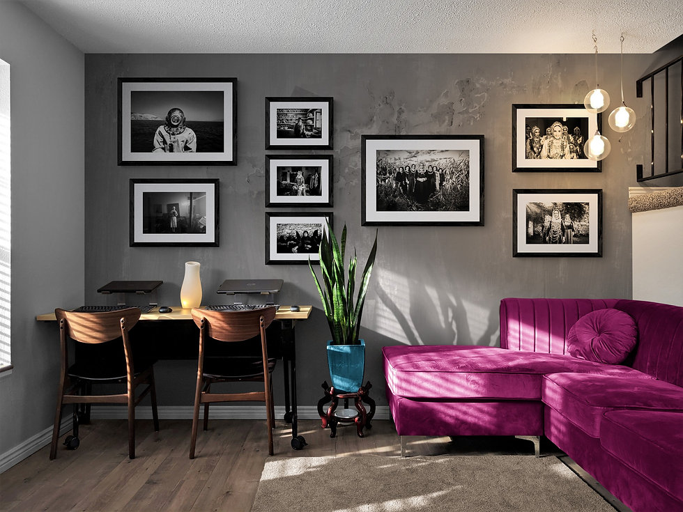Framed artwork in room by photographer George Tatakis