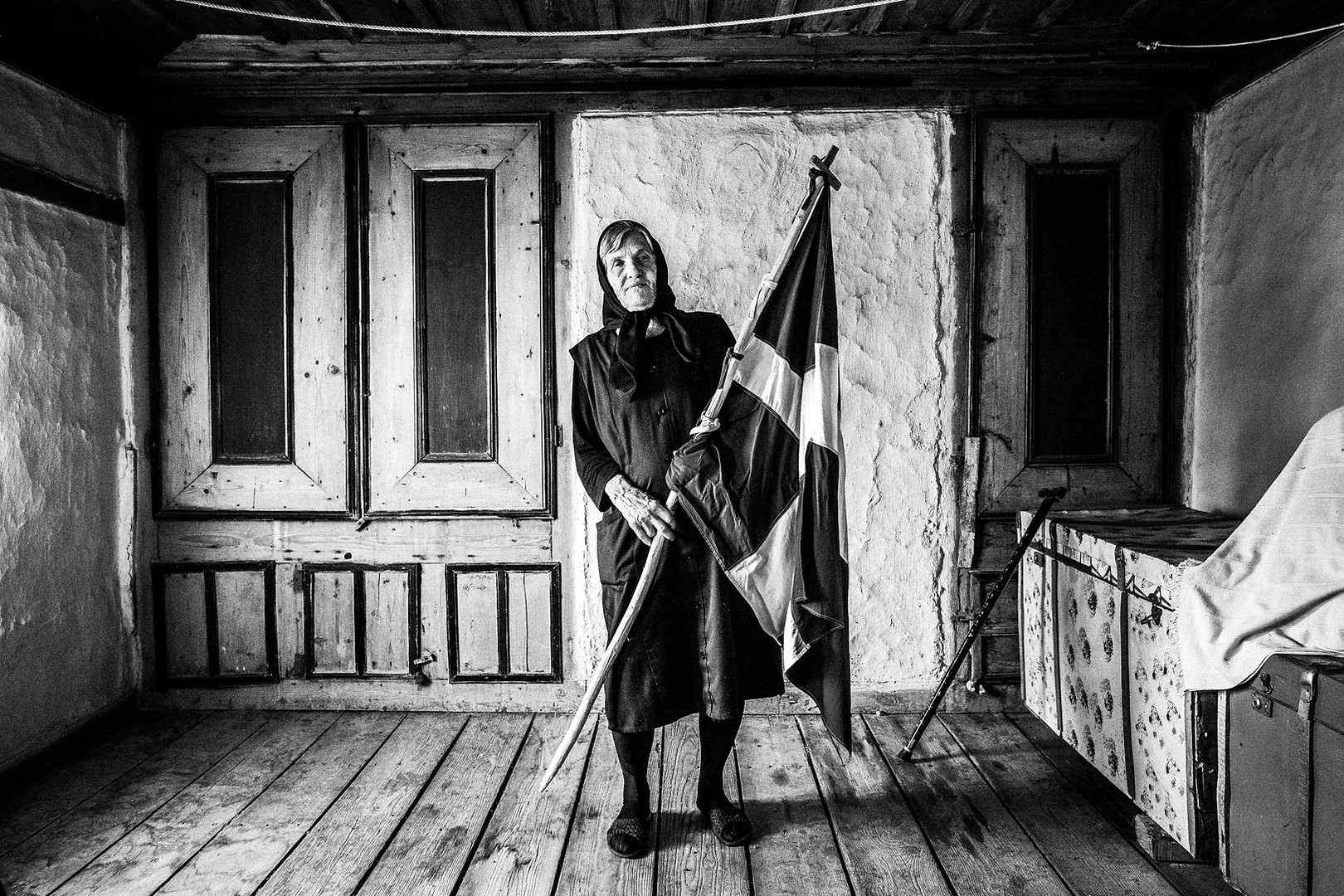 Lady with flag, Metaxades, Thrace, Greece