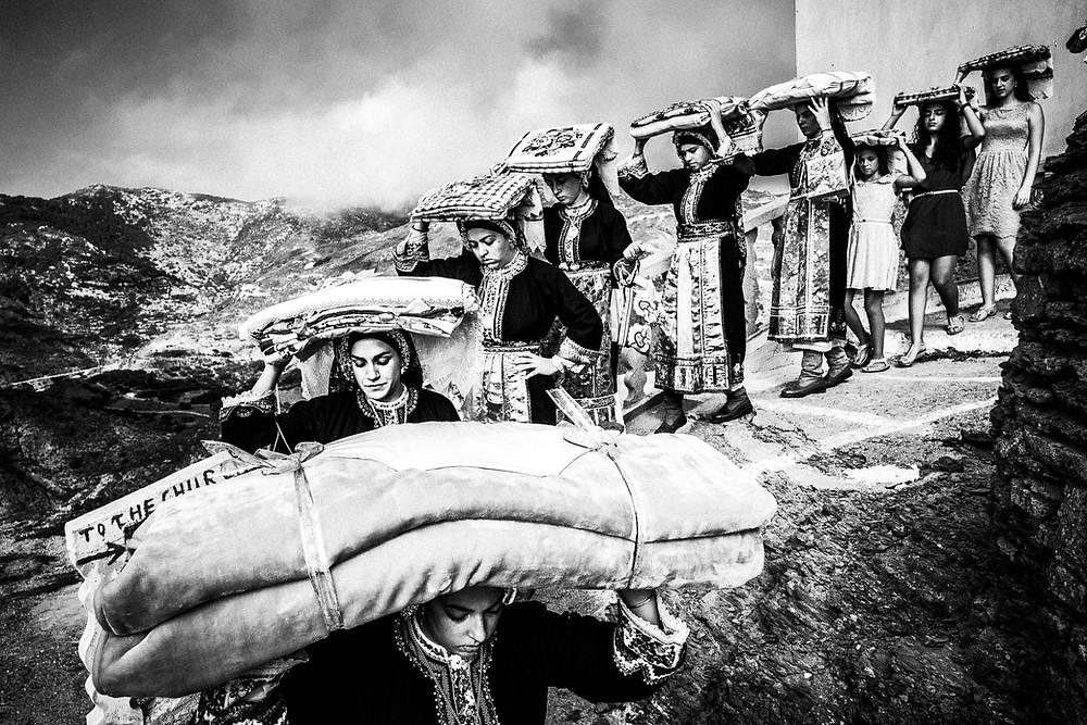 Dowry transportation before the wedding in Olympos, Karpathos