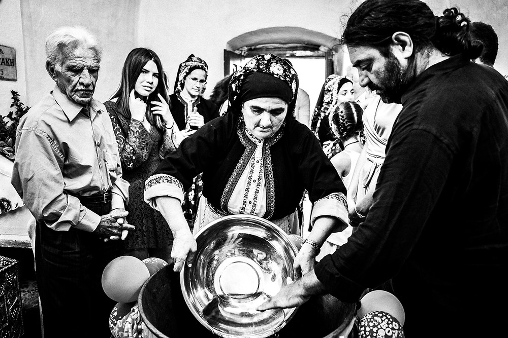 Traditional Christening in St. Minas, Olympos, Karpathos