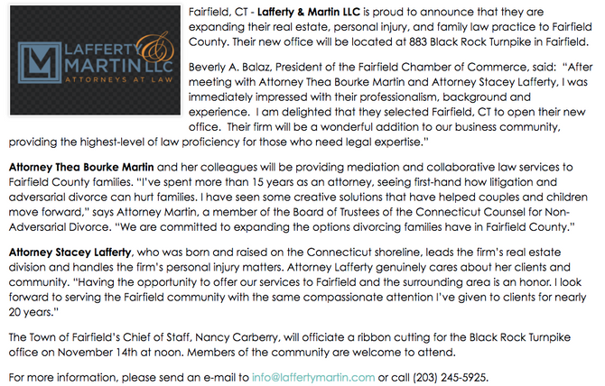 Lafferty & Martin Opens Fairfield Office.