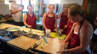 Making pasta in Sicily