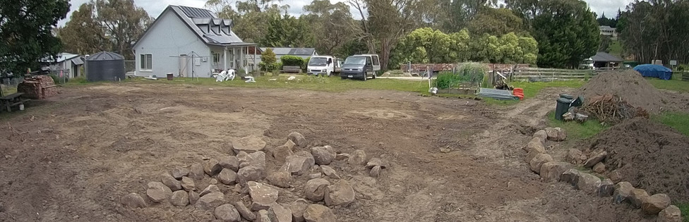 preparing the house site