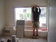 custom joinery to window seat