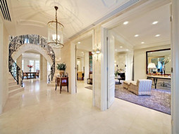 curved ceiling to entry hall