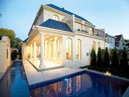 french provincial with swimming pool