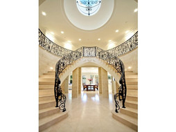 twin curved staircases