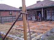bearers and joists completed