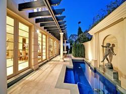 decorative pergola to pool area