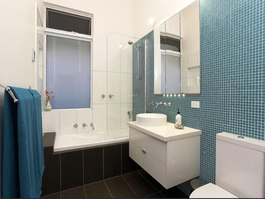 feature wall using glass mosaic tiles