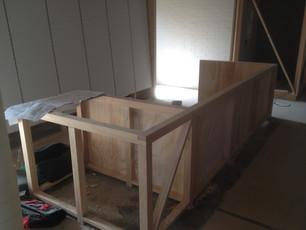 timber reception desk