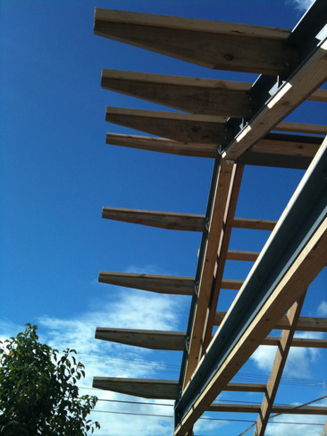 exposed rafters for laserlite sheeting