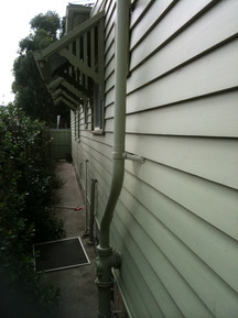 windows changed and weatherboards replaced
