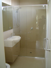 large shower in a small ensuite